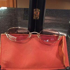 Judith Leiber folding sunglasses